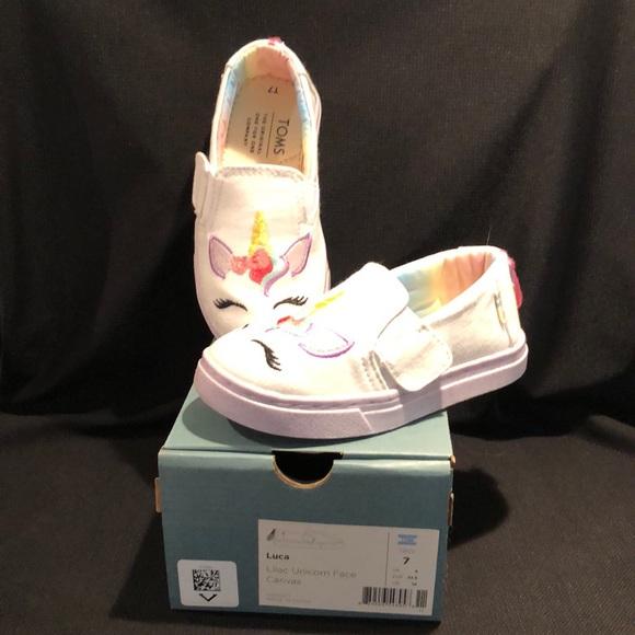 Toms Luca Lilac Unicorn Toddler Girls